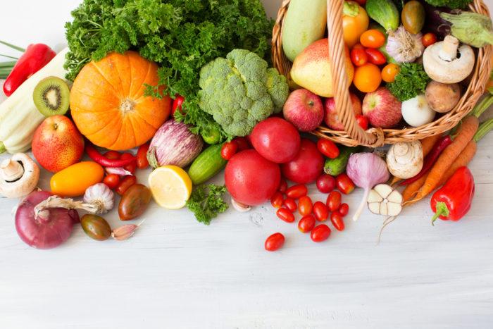 gyümölcsök és zöldségek